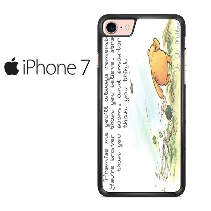 Winnie the Pooh Quote Iphone 7 Case