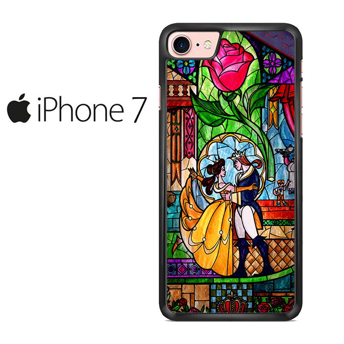 Beauty and The Beast Stained Glass Iphone 7 Case