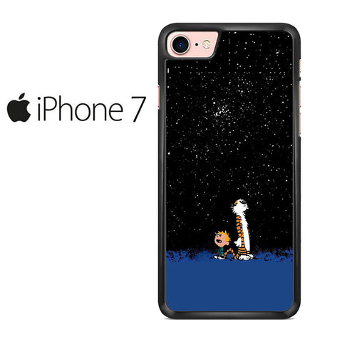 Calvin and Hobbes Starry Night Iphone 7 Case