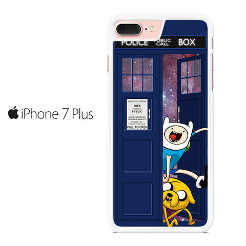 Adventure Time Jake Finn In Dr Who Tardis Call Box Galaxy Nebula Iphone 7 Plus Case