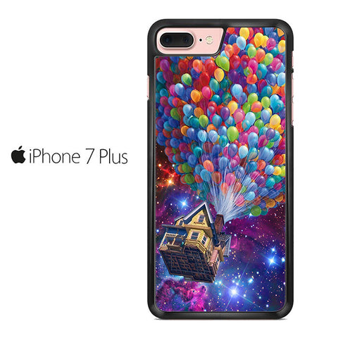 Balloons Flying House in Galaxy Nebula Iphone 7 Plus Case