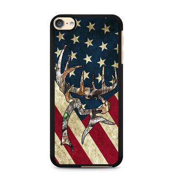 Camo Deer US Flag Ipod Touch 6 Case