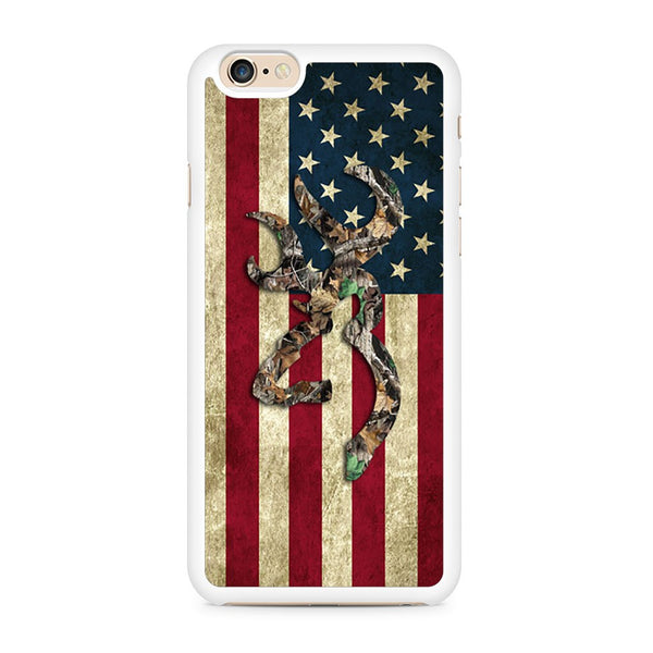 Browning Deer Real Tree Camo Usa Flag Iphone 6 / Iphone 6S Case