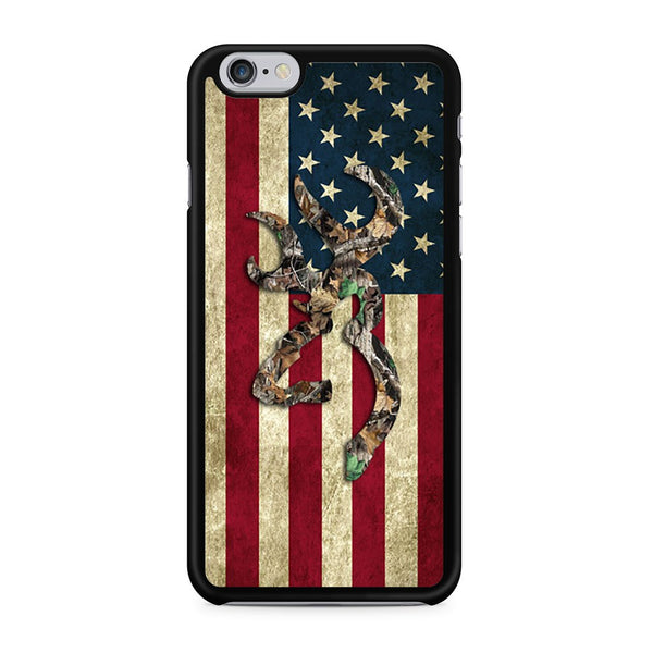 Browning Deer Real Tree Camo Usa Flag Iphone 6 Case