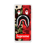 SUPREME BAPE SHARK Iphone 8 Case