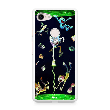 Rick And Morty Open A Dimension Google Pixel 3 / Google Pixel 3 XL case