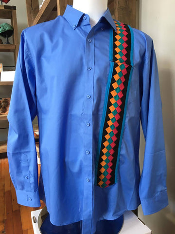Men's Dress Shirt w/Patchwork