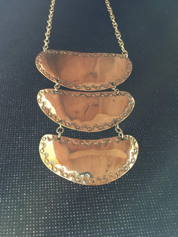 Gorget -Small Brass Triple