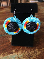 Beaded Round Earring - Large