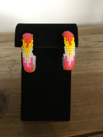Beaded Hoop Earrings - Small