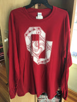 """OU"" Design T-Shirts Long Sleeve- Adult"