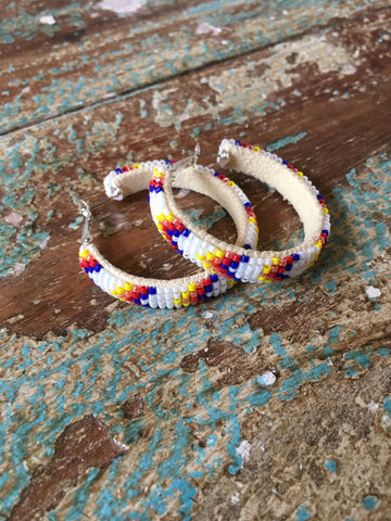 Beaded Hoops - Large