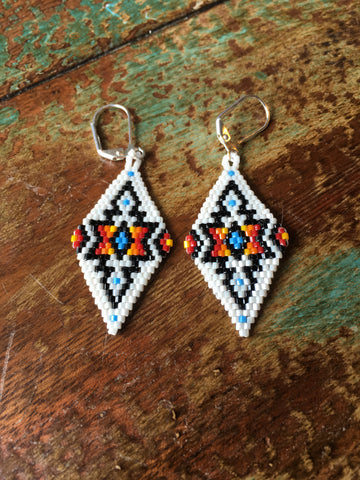 Beaded Triangle Earring