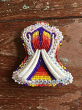 Bead and Dentalium Pin