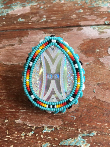 Beaded adjustable Ring