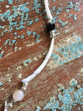 Dentalium Shell and Bead Necklace - Single Strand