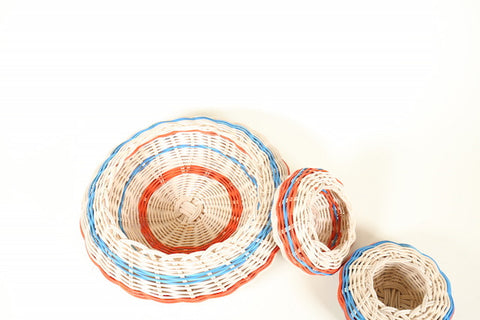 Set of Handmade woven baskets