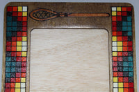 "Wood Picture Frame, Stickball Sticks - 8.5"" x 6.5"""