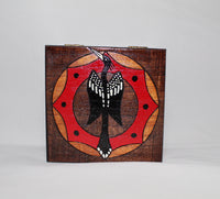 Wooden Box - Carved and Painted