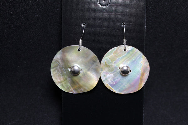 Shell Earrings - Medium Size with Silver (Various Designs)
