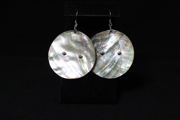 Shell Earrings - Large with Silver (Various Designs)