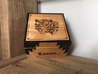Wood carved boxes
