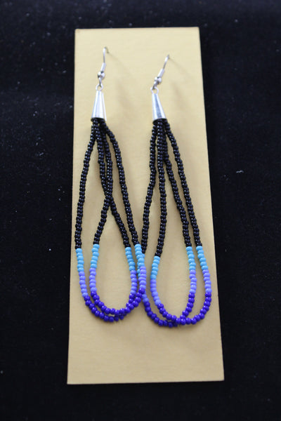 Long Beaded Earrings - Various Colors Available