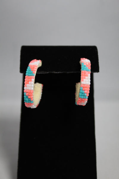 Small Open Hoop Earrings - Various Colors