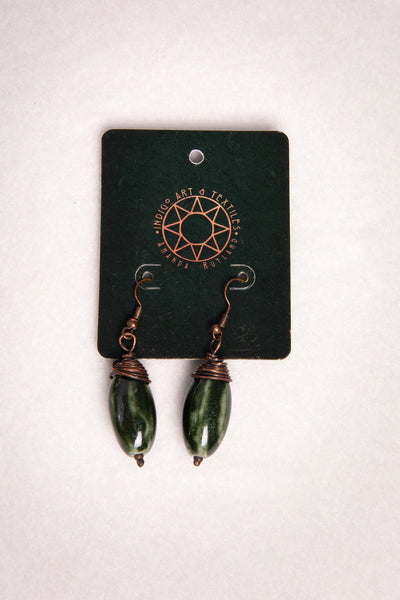 Simple Green Dangle Earring