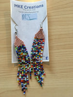 Brick Stitch Fringe Earrings