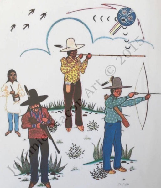 """Three Creek Hunters"" Print by Johnnie Deacon"