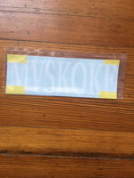 """Mvskoke"" white decal"