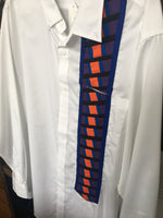 Men's Dress Shirt w/patchwork - 2XL