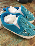 Beaded Baby Shoes in Blues