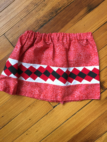 Infant Girl's Red Skirt with Patchwork