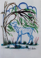 """Blue Deer Reaching"""