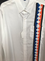 Men's Dress Shirt w/patchwork - Large