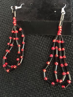 Beaded Loop Earrings