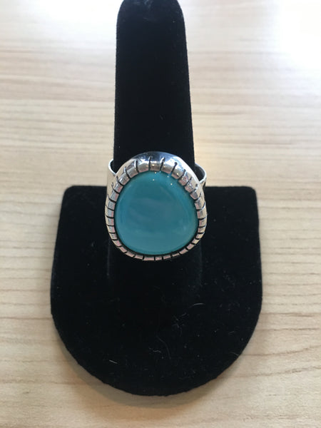 Sleeping Beauty Turquoise - Silver 925 - Size 8.75