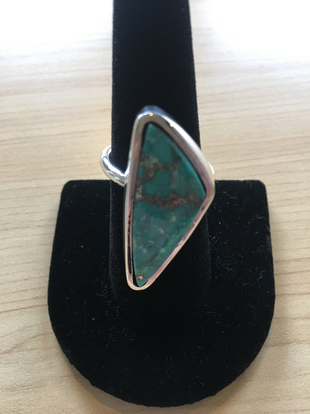 Mongolian Turquoise - Silver 925 - Size 8