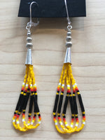 Beaded Cone Earrings