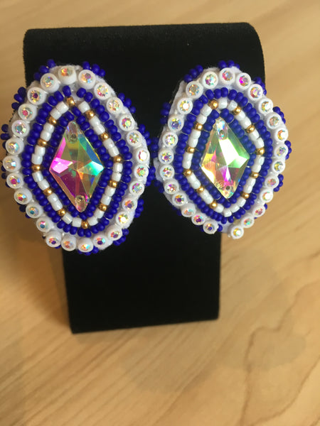 Beaded Cab Earrings