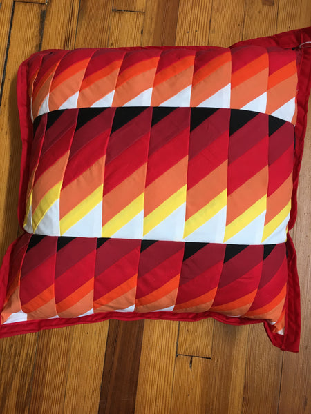 Fire Design Patchwork Pillow