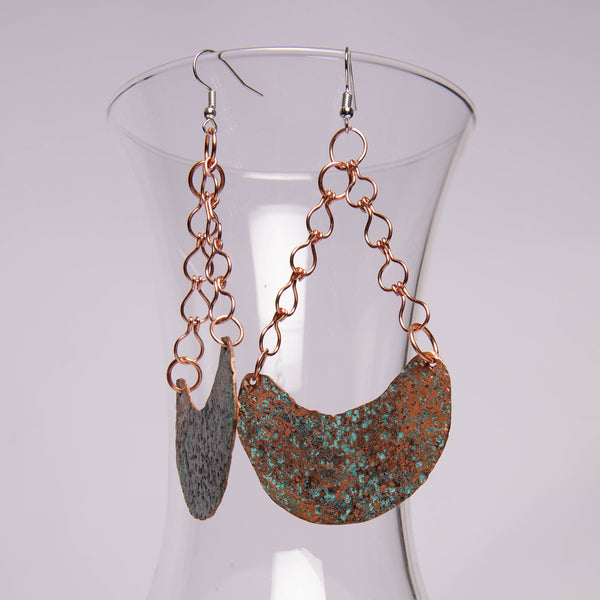 Patina Wedge Earrings