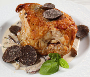 Chicken Breast with Black Winter Truffles served with Creamy Mushroom Sauce