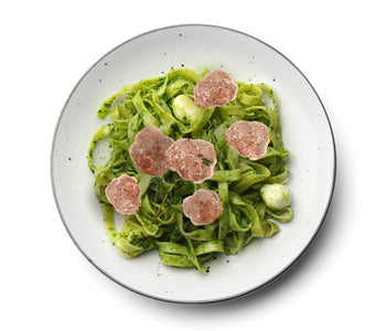 Fettuccine with Truffle-Avocado Sauce with Fresh White Truffles