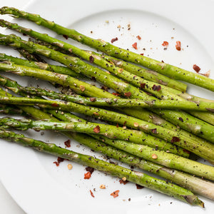 Oven Roasted Asparagus with Truffle Garlic Butter