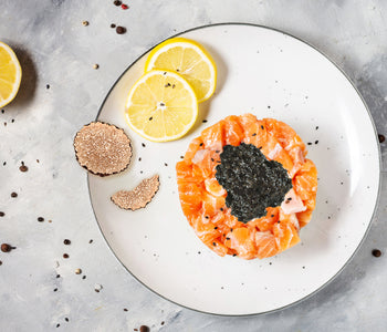 Salmon Tartare with Truffle Tapenade