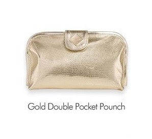 Gold Double Pocket Pouch - Missha Middle East