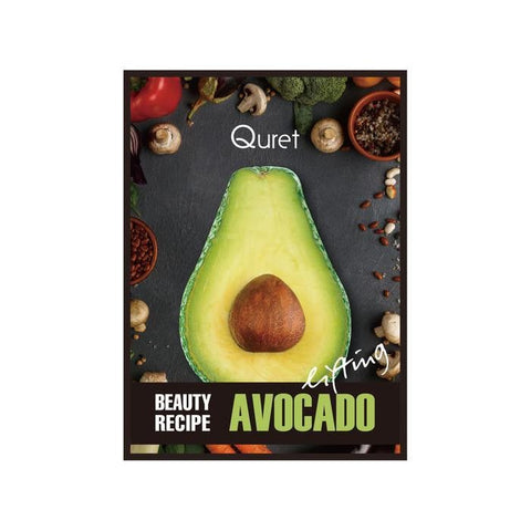 Quret Beauty Recipe Mask - Avocado [Lifting] ( Set Of 6 pcs)